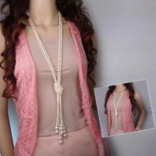 New Ladies Beads Pendant Statement Necklace CollarNecklace Fashion Boho 120cm
