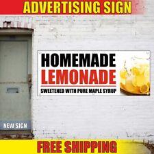 Lemonade Advertising Banner Vinyl Sign Flag fresh squeezed ice cold ups Homemade