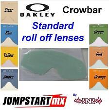 Oakley CROWBAR Goggles Roll Off LENS Clear Blue Yellow Smoke  Pink Orange RNR MX