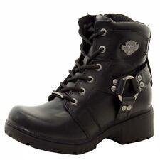 Harley Davidson Women's Jocelyn D83775 Black Leather Ankle Boots Shoes