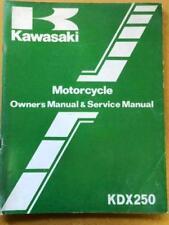 Kawasaki Owners Service Manual 1983 KDX250 B3