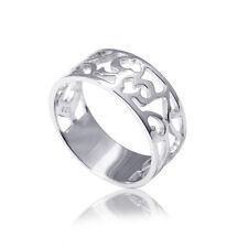 MATERIA Schmuck 925 Silber Ring breit rhodiniert Silber Damen Bandring keltisch