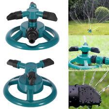 Garden Rotating Sprinkler 3-Arm Fitting Hose Outdoor Lawn Water Spray Sprinklers