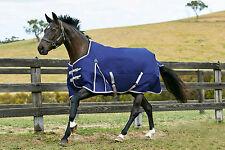 Weatherbeeta Essential Standard Heavy Blanket - Navy/Silver/Red - Various Sizes