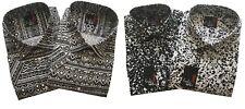 Mens-Short Sleeve-Retro-Aztec-Print-Shirt 55% Cotton 45%polyester