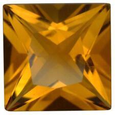 Natural Fine Rich Orange Gold Citrine - Square Princess - Brazil - Top Grade