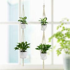 2-Layer Basket Planter Hanging Tools Simple/Macrame Patio Balcony Pot Hanger 8F