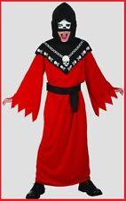 Boy HORROR ROBE COSTUME with HOOD MASK Halloween Horror Party 2 szs 3-5yo 5-7yo
