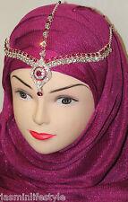 Diamante Beautiful Hijab Matha Patti New Tikka Bridal Prom Costume HeadJewellery