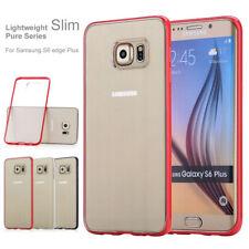 For Samsung Galaxy S6 Edge Plus Slim Shockproof Transparent Clear Bumper Ca