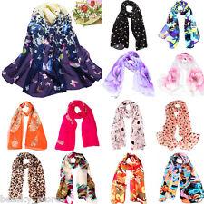 Fashion Women Girl Chiffon Scarf Printed Silk Long Soft Scarf Shawl Scarves Wrap