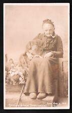 Sheffield photo. Granny & Dog by E. Oswald Parkin, S~.