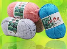 100% Bamboo Cotton Warm Soft Natural Knitting Crochet Knitwear Wool Yarn 50g