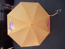 BNWT Boys or Girls Cute Orange Animal Print Auto Opening Umbrella