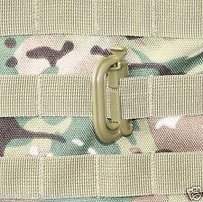 2 x ABS Tactical Rapid V Locks MOLLE Webbing, helmet clip Green, Black or Tan