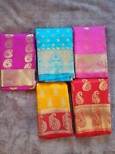 Indian Designer Silk Katan Saree Different Colours Excellent Quality