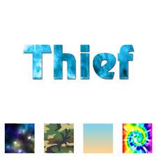 Thief Gamer MMO RPG - Vinyl Decal Sticker - Multiple Patterns & Sizes - ebn1898