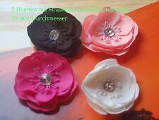 2 Blumenköpfe Textil Blume Satin-Organza Farbwahl Flower head Ranunkel 7,5 cm