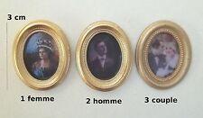 tableau miniature,cadre photo,maison de poupée,vitrine, homme,femme,couple  *CL1