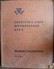 Massey Ferguson Mähdrescher 630 S Ersatzteil-Liste