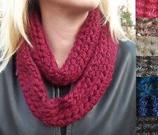 SCARVES: New Infinity Loop Crochet Eternity Circle Warm Winter Scarf Asst Colors