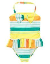NWT Gymboree Swimsuit Stripes bows Girls 5 7 10 12 Sunny citrus Yellow Green