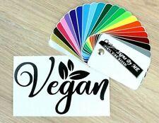 Personalised Vegan Sticker Car Wall Laptop Door Vinyl Decal Adhesive Black