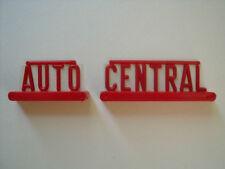 2   ENSEIGNES  AUTO   CENTRAL  POUR  GARAGE  STATION  KAD  VROOM  1/43