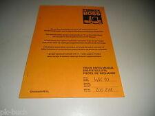 Ersatzteilkatalog Spare Parts List Gabelstapler Steinbock Boss Stapler WK 10