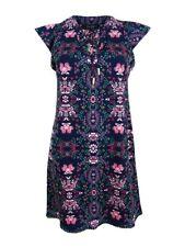 Jessica Simpson Women's Floral Lace-Up Flutter-Sleeve Dress