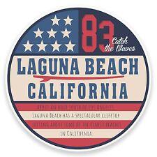 2 x 10cm Laguna Beach California USA Vinyl Sticker Decal Laptop Car Travel #9113