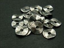 10 Stück #A21631 gewellt 10mm Silber Schmuck Scheiben
