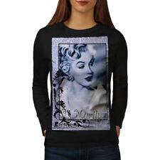 Marilyn Monroe Face Women Long Sleeve T-shirt NEW   Wellcoda