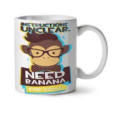 Bisogno di Banana Monkey funny Nuova Tazza da Caffè Tè Bianco 11 OZ (ca. 311.84 g) | wellcoda
