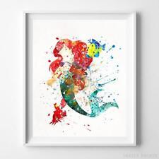 Ariel Sebastian and Flounder The Little Mermaid Disney Poster Print UNFRAMED
