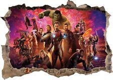 Marvel Avengers Super Heros Hulk 3d Smashed Wall View Sticker Poster Vinyl 952