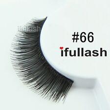 #66  6 or 12 pairs of ifullash 100% human hair Eyelashes- BLACK