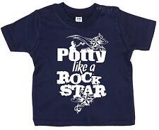 "DF ""Potty like a Rock Star"" Boy Girl Rock 'n Roll Cool Newborn BabyT-shirt Gift"