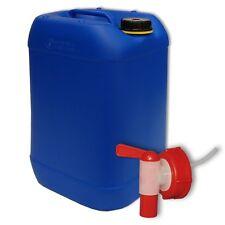 Bidon plastique 25 L Bleu DIN 61 +1 Robinet, PEHD, Fab. en Allemagne (22248+010)
