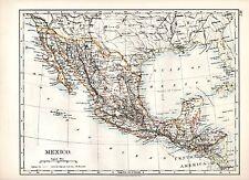1904 mapa ~ México + (Estados Unidos de América SW central en reverso)