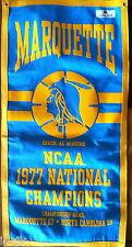 Marquette Warriors 1977 Basketball Banner Al McGuire