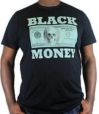 Mens big and tall t- shirts, black money 3xl-5xl retro, urban, hip hop blk tees