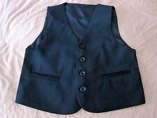 Boys Formal Vest Size 0-12 fit Wedding Tuxedo in plain BLACK
