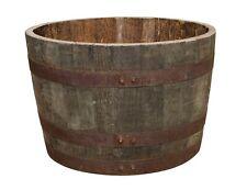 Whiskyfaß Bottich Pflanzkübel Holz Faß halb Holzfaß Miniteich halbiert Eichenfaß
