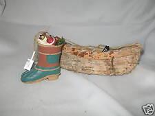 Canoe & Fishing Boot  Christmas Ornament