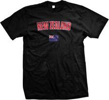 New Zealand Wellington Island Oceania Flag Country Pride Mens T-shirt