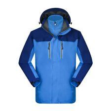 Men Waterproof Outdoor Jacket Coral fleece Lined Climbing 2PCS Hooded Combat New