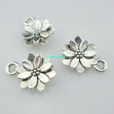 66/300pcs Jewelry Making Tibetan silver/Bronze Flower Charms Pendants Beads