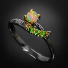 Natural Opal 925 Sterling Silver Ring Натуральный опал/ RVS253