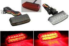 faro  fanale  fanalino posteriore moto  a 6 led rossi  fumè / trasparente /rosso